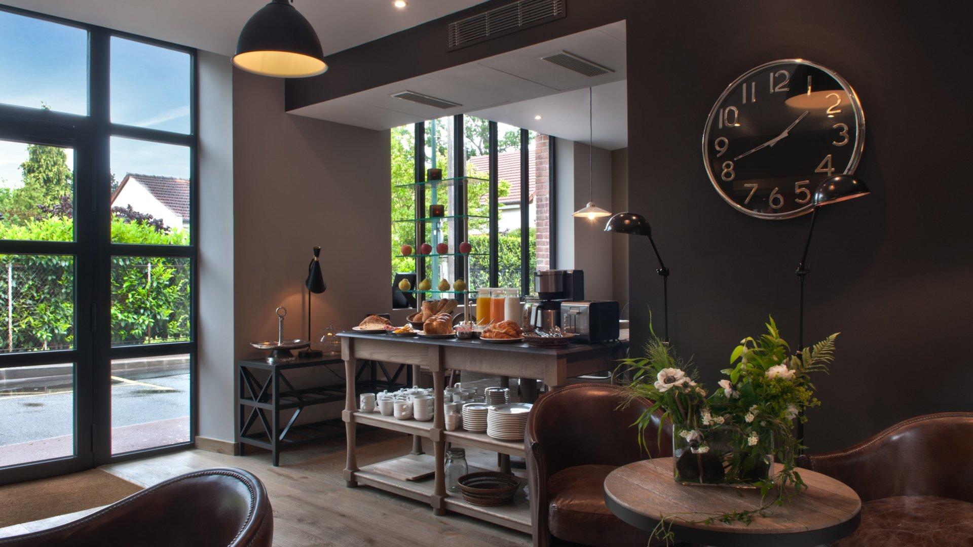 Hôtel Les Terres Blanches - salle petit-déjeuner